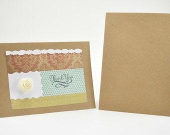 Thank You Card, Pink Thank You Card, Feminine Thank You Card, Feminine Card