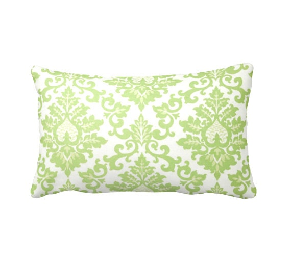 Throw Pillow Lime Green : Green Throw Pillow Cover Lime Green Pillow by ReedFeatherStraw