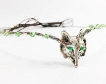 Elf Ear Cuff - Wolf Ears - Wolf Head Circlet - Woodland Fairy Tiara - Circlet - Elven Ear Cuffs - Wolf Crown - Elven Circlet - Pair