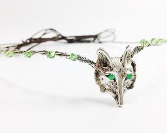 Wolf Head Circlet - Woodland Fairy Tiara - Elven Circlet - Wolf Crown - Elven Crown - Fairy Circlet - Elf Crown - Wedding Head piece