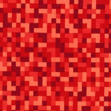 Bitmap pixels in red 1 yard michael miller for Minecraft fabric by the yard