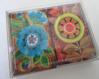Vintage Bridge Playing Cards Bridge Cards Set Flower Power Playing Cards Vintage Art