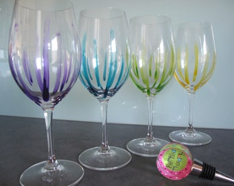 "Hand painted Riedel Wine Glass in design ""Nice Legs"""