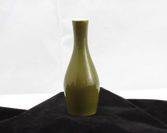 mini olive vase 5 inches tall vintage