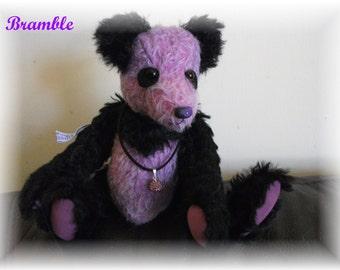 Sweet Little 8 1/2 inch Panda Teddy Bear  Handsewn  One-of a Kind