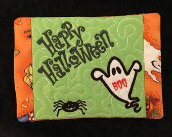 NNC ITH Happy Halloween Mug Rug in all popular formats