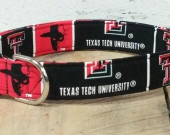 Texas Tech University designer buckle dog collar OR martingale dog collar OR Leash Set