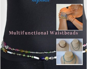 Beaded waist chain,African Waist Beads,Multistrand necklace,Belly Chains, Beaded Necklaces, Bracelets,Gift,African Jewelry, African shop