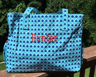 Blue Scallop Diaper Bag
