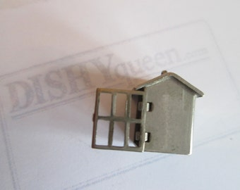 Circa 1960s vintage novelty CHARM! Sterling .925 silver: PRISON CELL!