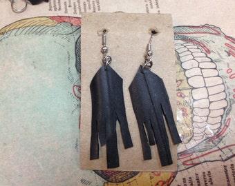 Fringe earrings (recycled)