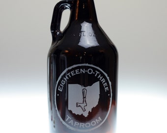 Growler Custom engraved with State on Tap art,homebrew gift,home brew,growler gift,custom growler,dad gift,father gift,brother gift