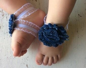 Barefoot sandals; baby barefoot sandals; denim sandal ; toddler barefoot sandal; sandal