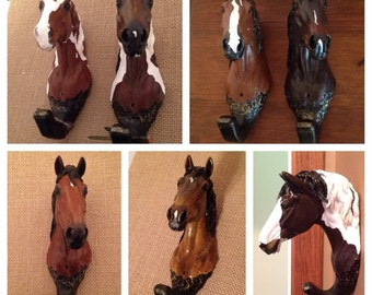 Hand Painted Horse Head Halter/Bridle Hooks