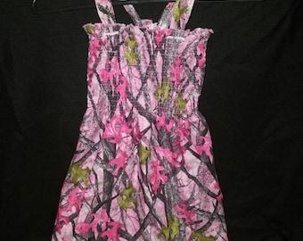 2T pink camo dress