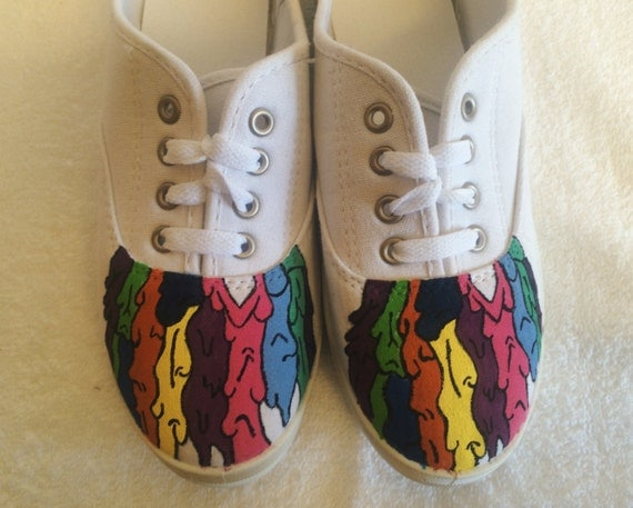 Twenty One Pilots Self Titled Painted Canvas Shoes By Mdgetsy