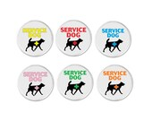 """Service Dog Yellow Red Blue Pink Green Orange Medical Alert Symbol 3"""" Sew On Patch Therapy Assistance Disability (801)"""
