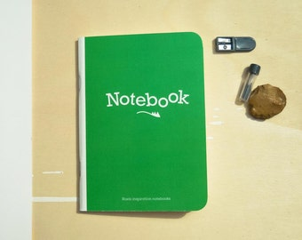 Roels inpsiration notebooks - Green edition with inspirational texts and illustrations