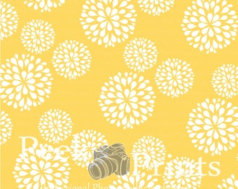 3ft.x3ft. In Bloom Yellow and White Large Flowers Vinyl Photography Backdrop