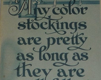 Any Colors Stockings Are Pretty Humorous Postcard