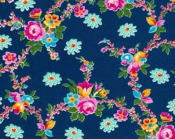 FAT QUARTER Jennifer Paganelli Happy Land_ Claudia in Midnight OOP  Free Spirit Fabric