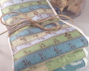 Burp cloths, carpenter, construction, hammer, saw, ruler, baby boy, baby shower