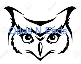 Owl face SVG