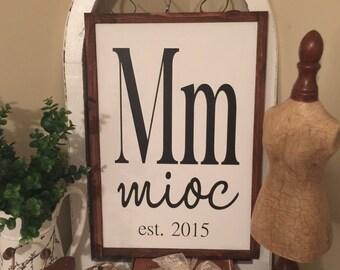 Custom Last Name Wood Framed Sign