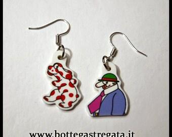 Earrings Pimpa Armando Cartoons