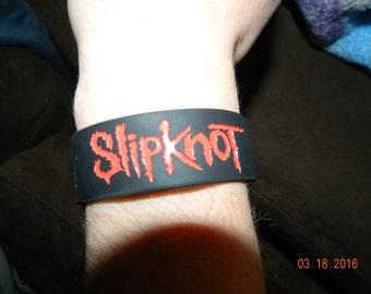 New- Slipknot logo Rubber Wristband Bracelet / one piece slip on style
