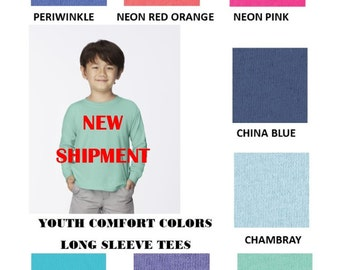 Child/ Toddler/ Youth-- Comfort Color L/S Tee
