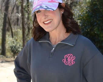 COMBO   Quarter Zip and Ball Cap  .....Great Gift Idea for Best Friend or Bridesmaids!