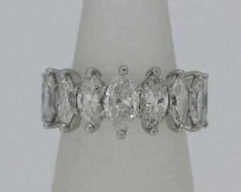 Platinum Marquise Eternity Ring