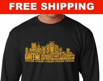 Steelers Skyline - Long Sleeve Shirt