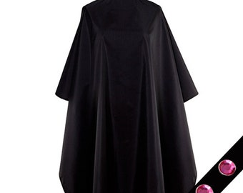 "Pink Midnight Black All Purpose Over sized Chemical Processing Cape Big 55 X 58"" Bleach Proof Snap Closures"