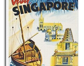Singapore Travel Print Canvas Wall Art Asian Home Decor xr693