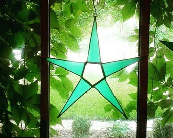 Big star-stained glass