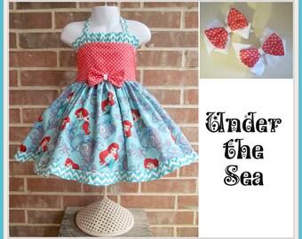 Little Mermaid dress, Ariel dress, Little Mermaid Birthday, Little Mermaid outfit, Ariel Birthday