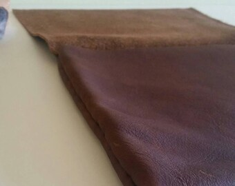 Signature Leather Clutch- Brown
