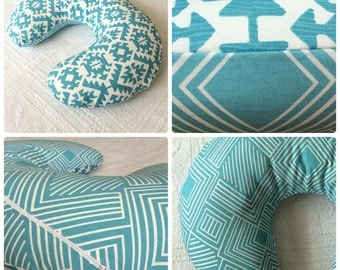 Free Shipping- Turquoise Boppy Cover Boppy Pillow Cover Nursing Pillow Cover