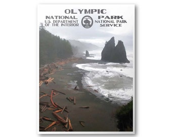 Olympic National Park Travel Poster