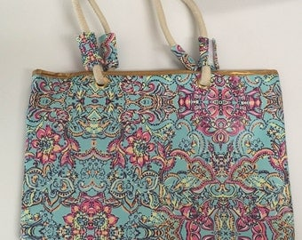 Lilly Pulitzer Inspired Tote/Beach Bag - FREE Monogram!