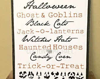 Halloween- Wood Mounted Print