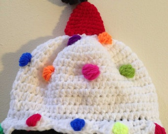 My First Birthday Cake Crochet Kids Hat