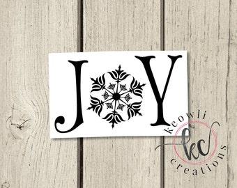 Joy Vinyl Decal-Style 2