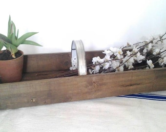 Vintage, Rustic Wooden Trug.