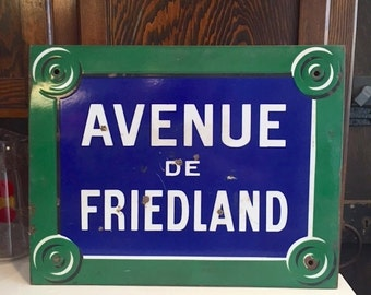 Original French Street Sign