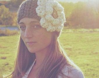 Crochet Flower Ear Warmer
