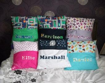 Personalised pocket cushion.