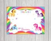 My Little Pony 'Thank You' Card